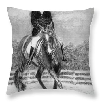 The Dance Throw Pillow by Quwatha Valentine