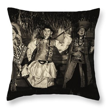 The Dance Throw Pillow by Rajiv Chopra