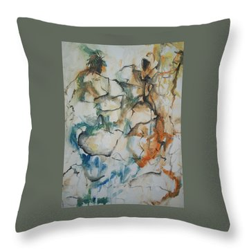 The Dance Throw Pillow by Raymond Doward