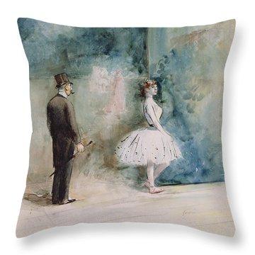The Dancer Throw Pillow by Jean Louis Forain