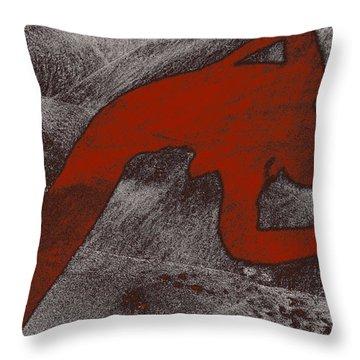 The Dancer Throw Pillow by Michael Mogensen