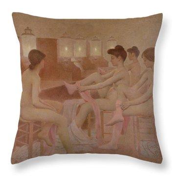 The Dancers Throw Pillow by Fernand Pelez