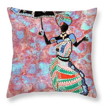 The Dancing Lady Throw Pillow