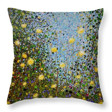 The Dandelion Patch Throw Pillow