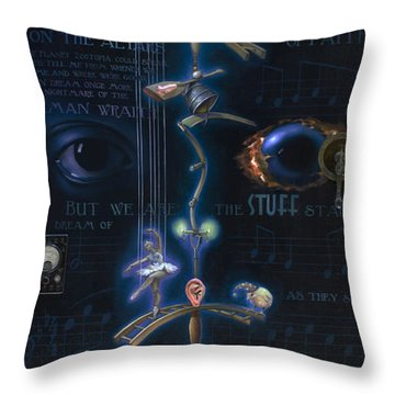 The Danse Macabre Throw Pillow by Patrick Anthony Pierson