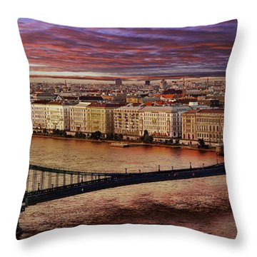 The Danube River In Budapest Throw Pillow