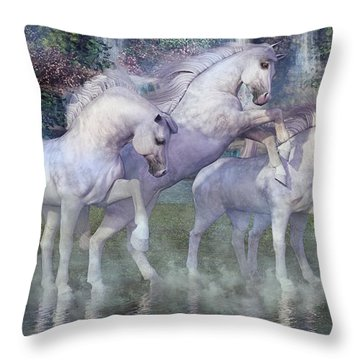 The Dapples Of Vienna Throw Pillow