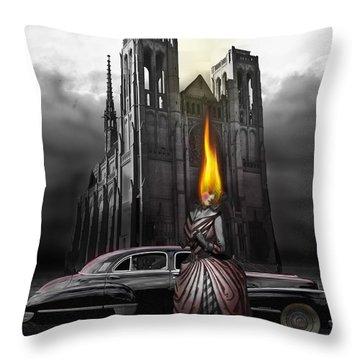 The Dark Angel Throw Pillow by Larry Butterworth