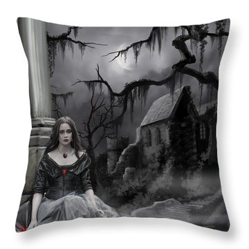 The Dark Caster Awaits Throw Pillow by James Christopher Hill