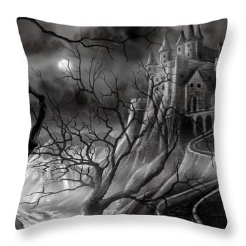 The Dark Castle Throw Pillow
