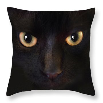 The Dark Cat Throw Pillow