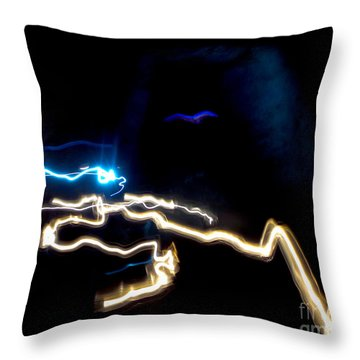 The Dark Cave Throw Pillow