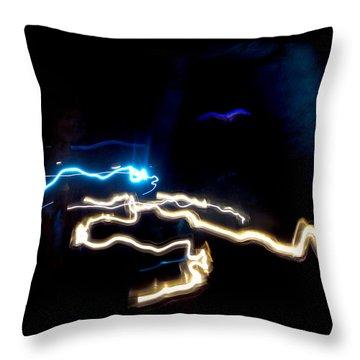The Dark Cave Throw Pillow