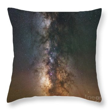 Throw Pillow featuring the photograph The Dark Heart Square Version  by Michael Ver Sprill