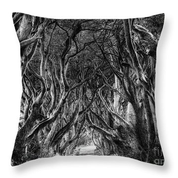 The Dark Hedges Throw Pillow