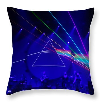 The Dark Side Of The Moon. Brit Floyd Space And Time World Tour 2015 Throw Pillow