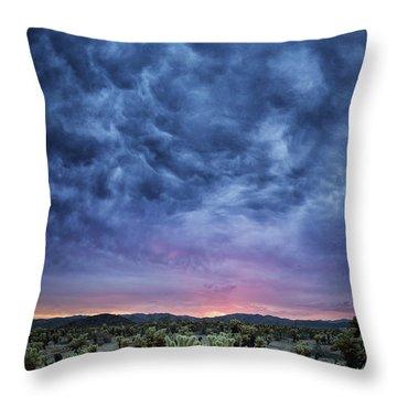 The Dark Sunset 2 Throw Pillow