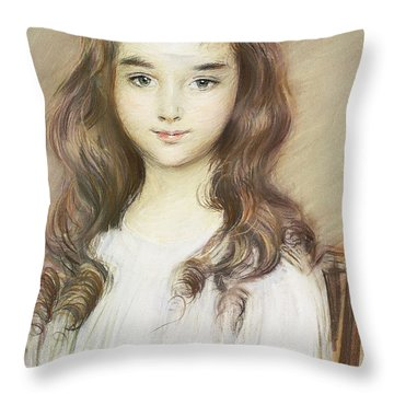 The Daughter Of The Marquise Of Elbe Throw Pillow