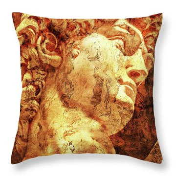 The David By Michelangelo Throw Pillow by J- J- Espinoza