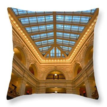 The David Whitney Building Throw Pillow