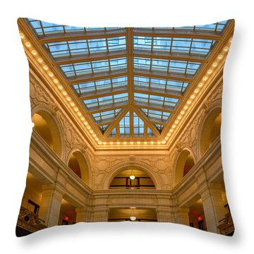 The David Whitney Building Throw Pillow