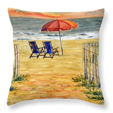 The Day Awaits  Throw Pillow
