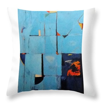 Night Creeps In Throw Pillow