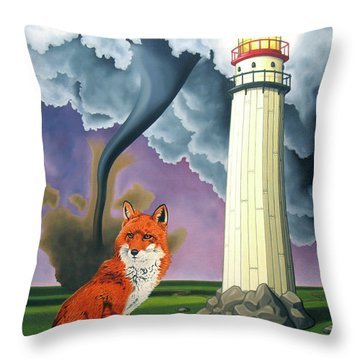 The Day The Rocks Ran Away Throw Pillow