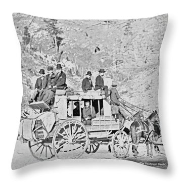 The Deadwood Coach Throw Pillow