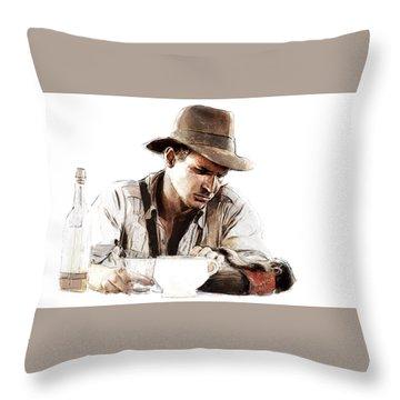 The Death Of Marion Throw Pillow by Kurt Ramschissel