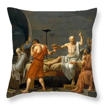 The Death Of Socrates - Jacques-louis David  Throw Pillow