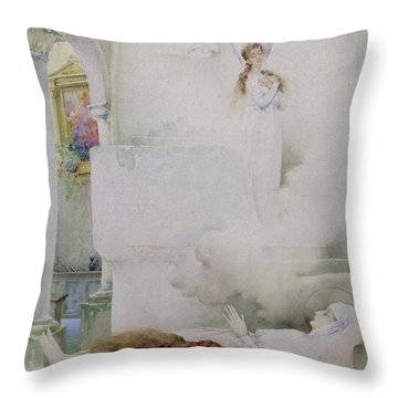 The Death Of The Virgin Throw Pillow by Guillaume Dubufe