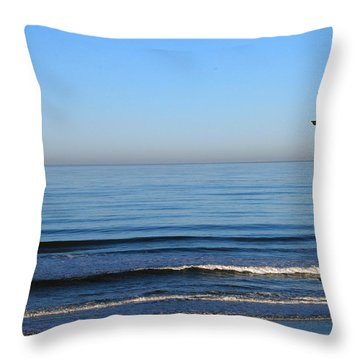 Throw Pillow featuring the photograph the Decks by Bill Dutting