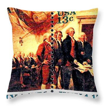 The Declaration Of Independence  Throw Pillow by Lanjee Chee