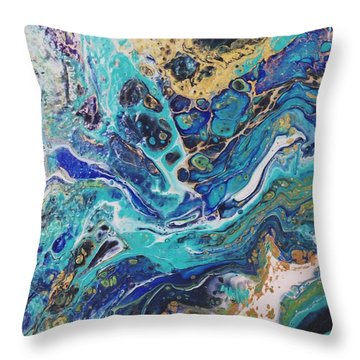 The Deep Blue Sea Throw Pillow