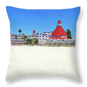 The Del Coronado Hotel San Diego California Throw Pillow