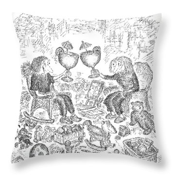 The Delight Of An Evening Cocktail  Throw Pillow