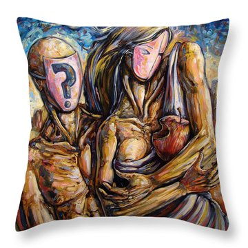 The Delusional Confusion Throw Pillow by Darwin Leon