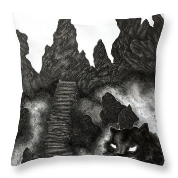 The Demon Cat Throw Pillow