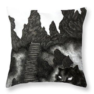 The Demon Cat Throw Pillow