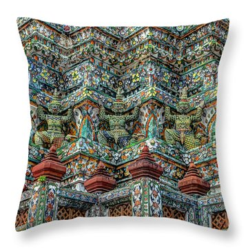 The Demons Of The Temple Throw Pillow by Michelle Meenawong