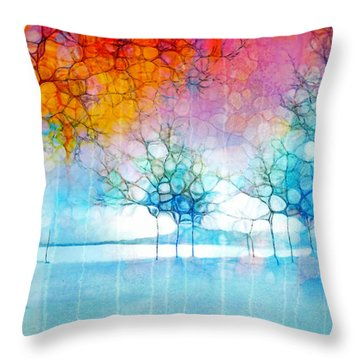 The Departing Trees Throw Pillow