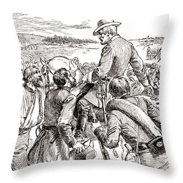 The Departure Of General Robert E Lee From His Soldiers Prior To His Surrender To Grant Throw Pillow