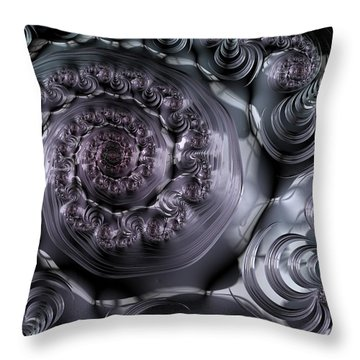 The Depth Of A Spiral Eye Throw Pillow