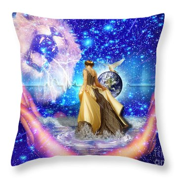 The Depth Of Gods Love Throw Pillow by Dolores Develde
