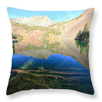 Throw Pillow featuring the photograph The Depths Of Blue Lake by Sean Sarsfield