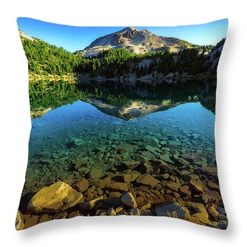 The Depths Of Lake Helen Throw Pillow
