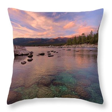 The Depths Of Sundown Throw Pillow