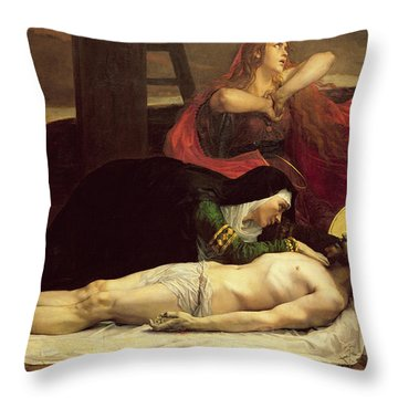 The Descent Of Christ From The Cross  Throw Pillow