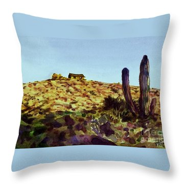 The Desert Place Throw Pillow